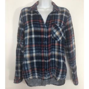Cloth & Stone plaid flannel long sleeve top size S